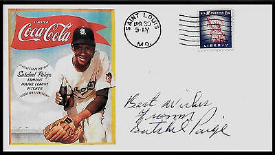 Satchel Paige Coca Cola ad Featured on Limited Edition Collector's Envelope *921