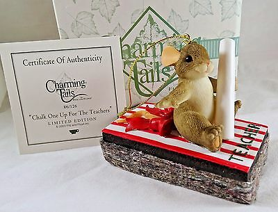 Charming Tails Ornament Chalk One Up For the Teachers  NIB