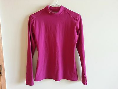 Under Armour Coldgear hot pink long sleeve mock - womens large compression