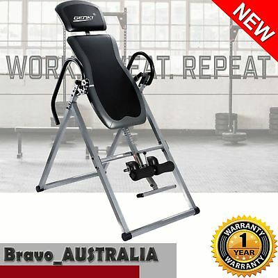 Inversion Gravity Table Foldable Upside Down Back Pain Fitness Home Gym