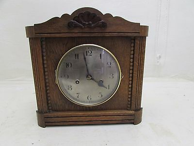 1920's Oak Hamburg American Corporation Mantel Clock All Original Working