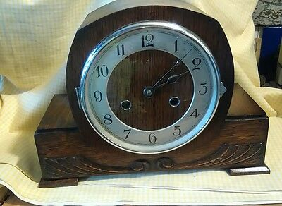 2 key haller mantle clock with pendulum&key ex.work.order ha4 reduced to clear
