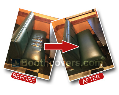 Replacement BOOTH SEAT COVER - Heavy Duty STAPLE ON VINYL - Restaurant Pub, Bar
