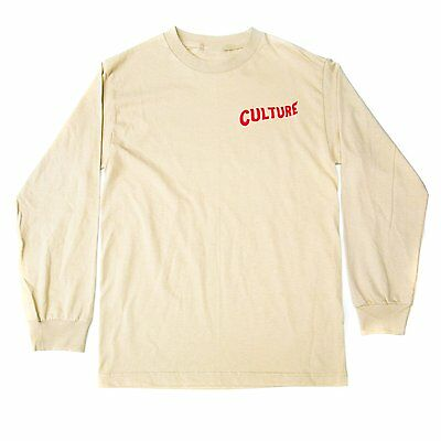 """Official Migos Merch CULTURE Long Sleeve """"Tan/Red"""""""