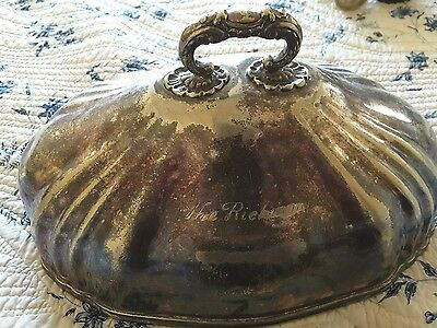 large antique hotelware meat cover
