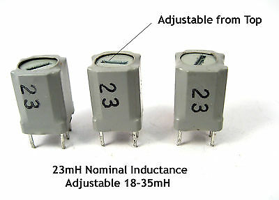 Adjustable RF Coils (18-35mH): 23mH Nominal Inductance: 3/Lot