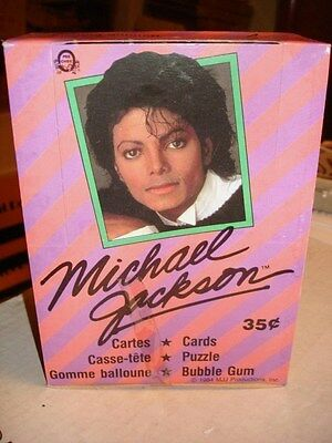 Michael Jackson cards rare 36 sealed packs box 1984