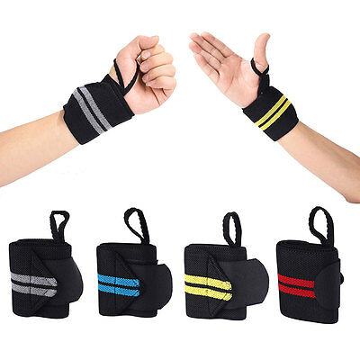 Hand Wraps Wrist Strap Powerlifting Bodybuilding Support Weight Lifting