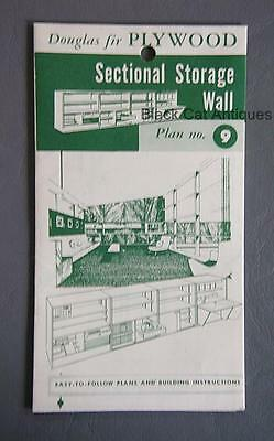Orig Canadian Forest Products Douglas Fir Plywood Sectional Storage Wall Plan #9