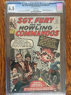 Sgt. Fury And His Howling Commandos 1 CGC 6.5 White Pages