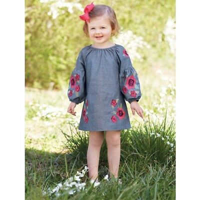Mud Pie H7 Baby Toddler Girl Floral Embroidered Dress 1142230 Choose Size