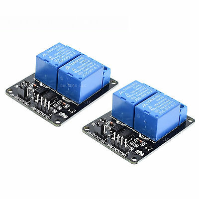 2pcs 5V Dual Channel 2 Relay Module Arduino Relays Switch 110V 115V 120V 220V US