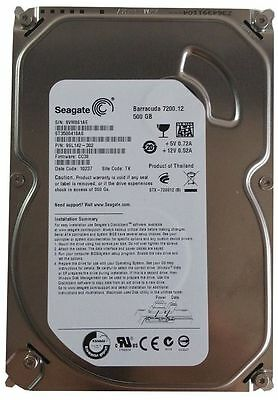 "Seagate 500Gb HDD PC/Desktop 3.5"" SATA Hard Disk Drive Drive ST3500418AS BARGAIN"