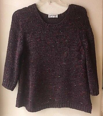 Olson Collection Womens Size UK 12 Chunky Knit Sweater  3/4 Sleeves