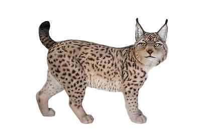 "STANDING LYNX STATUE  28"" Realistic Life Like Life Size New Home Garden Decor"