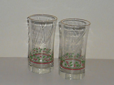 Arby's 1987 Christmas Glasses Collection, Set of 2 Glasses