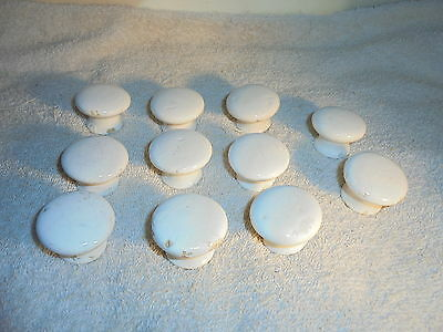Antique vintage porcelain drawer cabinet knobs pulls lot of 11