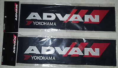 Yokohama ADVAN Racing Patches (2 Large + 2 Small) Official Product from Japan