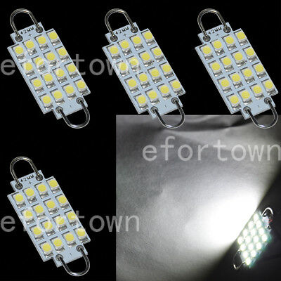 "100x 42MM 1.65/"" White LED Festoon Rigid Loop Bulb 16-3528SMD License Plate Light"