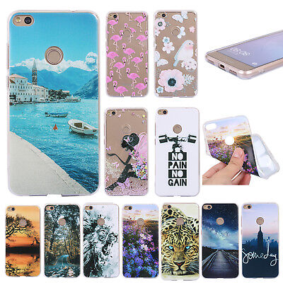 For Huawei P8 P9 P10 Lite Honor 8 9 Shockproof Soft Painted TPU Back Case Cover