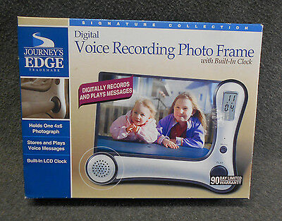 Journey's Edge Photo Frame with Digital Voice Recording & Clock - New in Box NIP