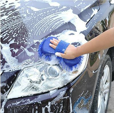 Microfiber Chenille Car Vehicle Care Washing Brush Sponge Pad Cleaning Tool DH