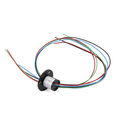 Black 4 Wires 1.5A 240V D12.5mm Micro Capsule Slip Ring for CCTV Monitoring