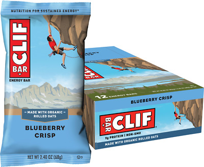 Clif Bar Blueberry Crisp Energy Bars- Box of 12