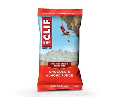 Clif Bar Chocolate Almond Fudge Energy Bars- Box of 12