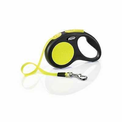 Flexi Neon Leash 16ft Small-Large Safety Reflective Visibility dogs up to 26lbs