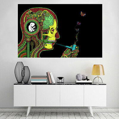 Famous Art Trippy Psychedelic Abstract Silk Art Poster Prints Wall Painting
