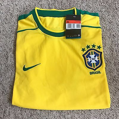 Brazil Home Shirt 1998 World Cup Size Large