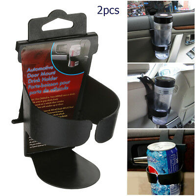 2X Universal Car Cup Holder Door Mount Water Bottle Can Mug Stand drink holders
