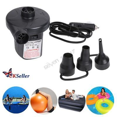12v Mini Electric Air Pump Airbed Car Boat Toy Air Bed Pool Mattress Inflator