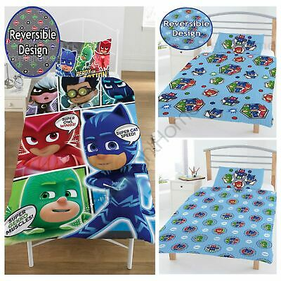 Pj Masks Duvet Cover Sets Single Junior Official Kids Bedding New