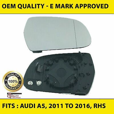 RHS heated wide angle 2011 to 2017 replacement Wing Mirror Glass Audi a7