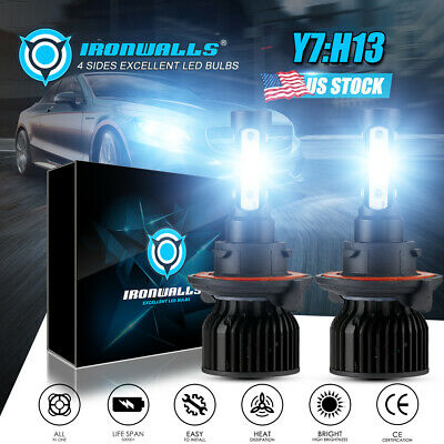 H13 9008 CREE LED Headlight Conversion Kit 1700W 255000LM HI-LO Beam Bulbs 6000K