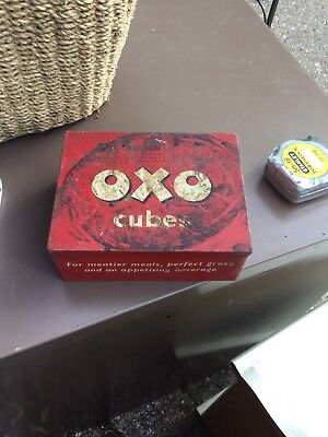 Old Metal Oxo Cube Tin Box
