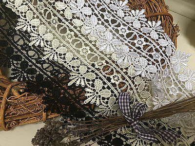 """90mm/3.5"""" Premium Quality Stunning Double Edge Guipure Lace Trim *FREE 1ST CLASS"""