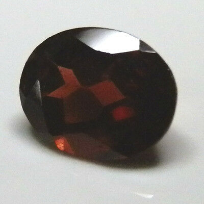 9 mm x 7.25 mm Oval red garnet natural gemstone..2.3 Carat