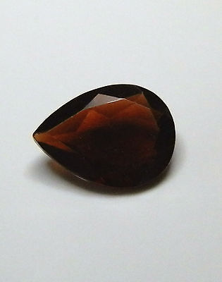 9 mm x 6.9 mm Pear red garnet natural gemstone..1.4 Carat