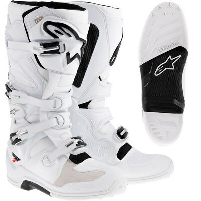 Alpinestars Tech 7 Motocross Enduro Stiefel white 11/45,5 Cross Boots Tech7
