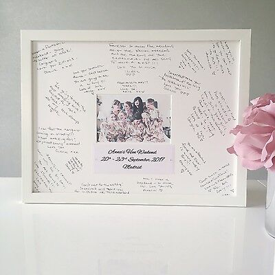 Hen Party Guest Book  Hen Do Night Guest Frame Personalised Bridal Shower Gift