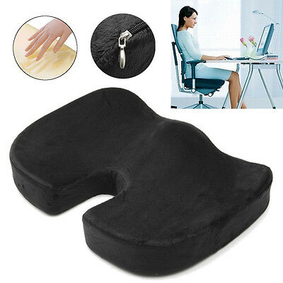 Memory Foam Seat Coccyx Orthopedic Cushion Office Chair Pain Relief Car Travel