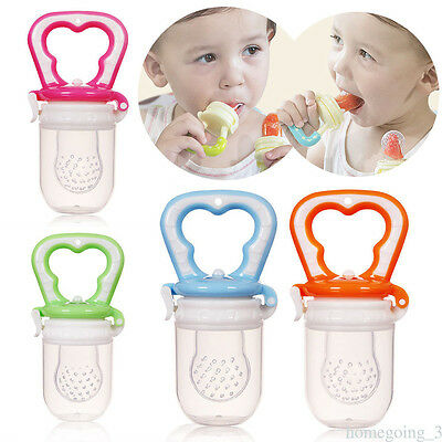 Newborn Unisex Silicone Safe Chewable Teether Teething Teeth Stick Pacifier