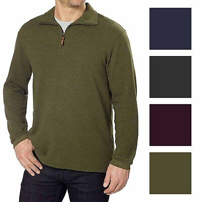 Hudson River Mens 1/4 Zip Pullover Sweater