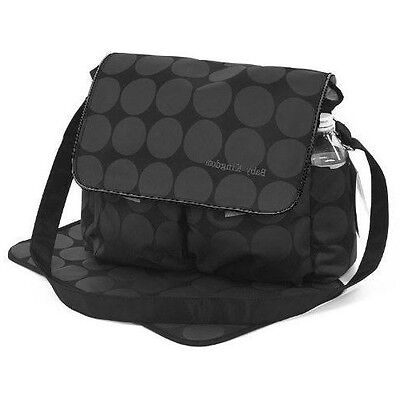 Large Black & Grey Polka Dots Nappy Diaper Changing Bags Set