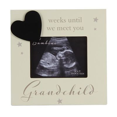 "Bambino Baby Scan Photo Frame - Grandchild Countdown ""Weeks Until We Meet You"""