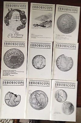 1988 =Lot Of 9  Magazines =April To Dec  Small Size Format Errorscope Mag 0088