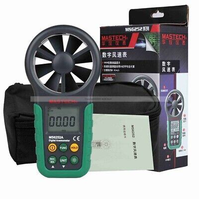 MASTECH MS6252A Handheld Digital Anemometer Wind Speed Meter Air Flow Tester